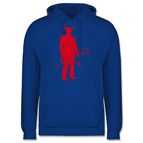 Shirtracer Halloween - Teufel - XL - Royalblau - JH001 - Herren Hoodie (Halloween-kostüme Dude Der)