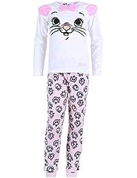 Pijama Blanco y Gris Gatita Marie Disney