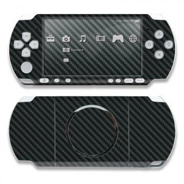 PSP Skin Sony PSP-3004 Design Schutzfolie inkl. Wallpaper - Carbon Look (Psp Skin Aufkleber)