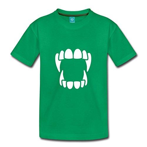 ebiss - Halloween Kinder Premium T-Shirt, 110/116 (4 Jahre), Kelly Green (Kelly Halloween 4)