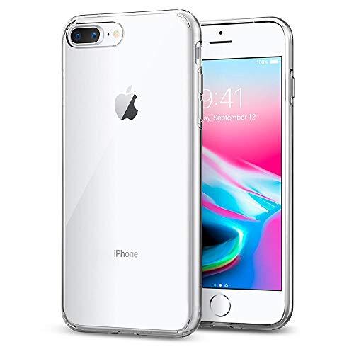 Spigen [Liquid Crystal] iPhone 8 PLUS/7 PLUS Hülle (043CS20479) Transparent TPU Silikon Handyhülle Kratzfest Durchsichtige Schutzhülle Flex Case (Crystal Clear)