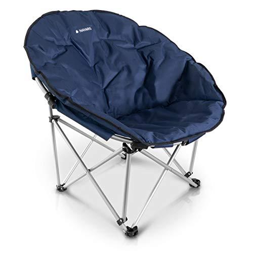 Navaris Moon Chair Faltsessel rund - XXL Camping Stuhl Outdoor Klappstuhl - Campingstuhl mit Tasche - Angelstuhl Falt Sessel - Klappsessel div. Farben