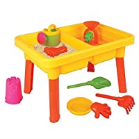 Kids Children Toddler Sand and Water Table with Assorted Accessories