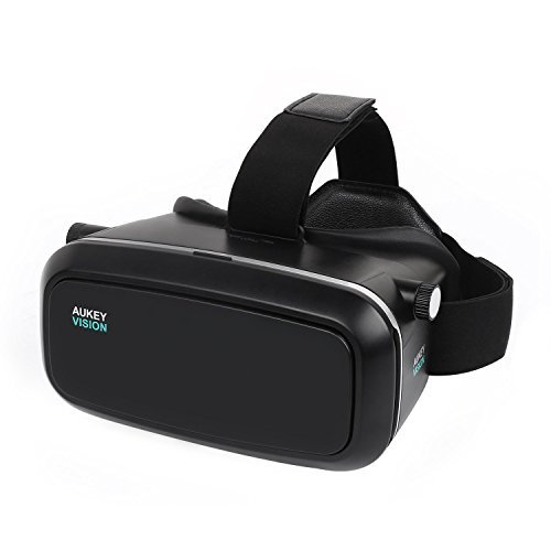 AUKEY VR Headset Adjustable 3D Glasses Compatible with iPhone, Samsung, LG and Other 3.7 - 5.5
