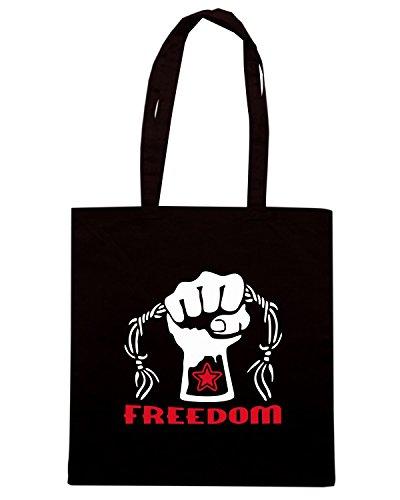 T-Shirtshock - Borsa Shopping TCO0138 stella rossa freedom Nero