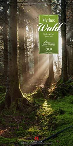 Mythos Wald 2020, Wandkalender im Hochformat (33x66 cm) - Naturkalender / Literaturkalender mit Zitaten mit Monatskalendarium (Literarische Reihe)