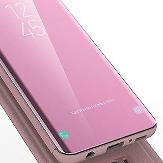 AURSEN® Samsung Galaxy S9 Clear View Standing Cover Case Tasche für Samsung Galaxy S9 Rosa Gold
