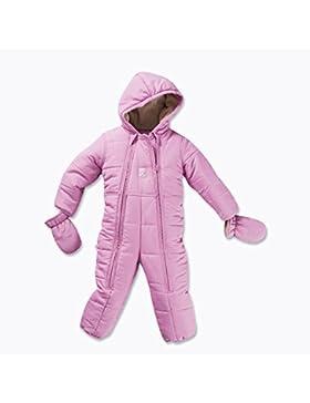 Baby Winteroverall für Mädchen Thermo-Overall mit Kapuze Farbe: Rosa Größe: 74/80 Hochwertiger windabweisender