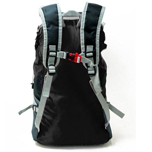 Shacke - 35L Zaino Leggero / Per Viaggi ed Escursioni - Resistente all'Acqua e Richiudibile (Nero) Nero