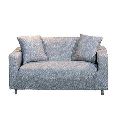 HM&DX Copridivano Elasticizzato in Maglia, Fodera per Divano Accogliente Decorativo Leggero Tessuto Traspirante per mobili Protector-Grigio Argento