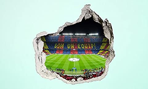 Photo Wallpaper 3D Hole In The Wall Camp Nou Stadium