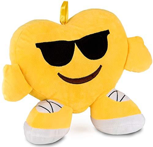 Brubaker Emoji Kissen aus Plüsch - 32 cm - Sonnenbrille