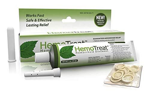 Emorroidi crema di trattamento - HemoTreat Crema - Veloce sicuro efficace Emorroidari Sintomo Relief , unguento per le emorroidi interne ed esterne