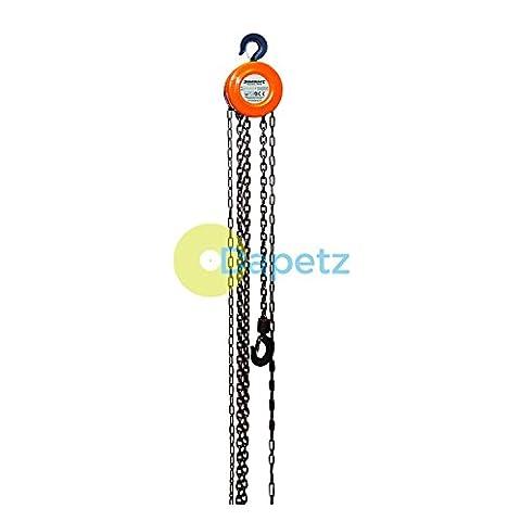 Dapetz ® 1 Ton 2.5M Lift Height & Tackle Pulley Block Winch Hoists Heavy Duty