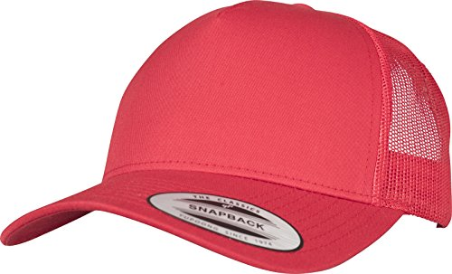 Flexfit 5-Panel Retro Trucker Cap Kape, Red, one size