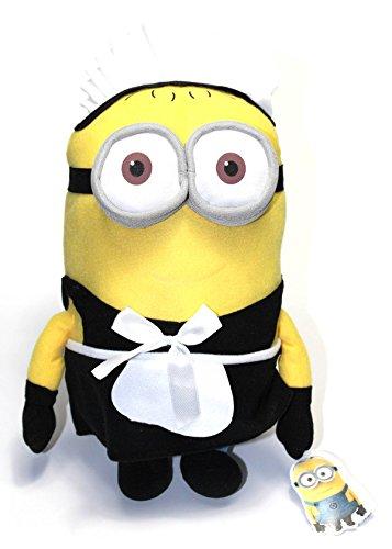 Minions Plüschtier Plüsch Figur Kuscheltier Stofftier Phil im Zimmermädchen Kostüm 40cm [Versand durch (Minion Hause Einfach Zu Kostüm)