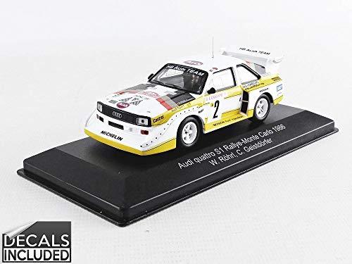 CMR - Coche en Miniatura de colección WRC003, Color Blanco, Amarillo y Rojo