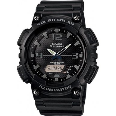 Casio Mens AnalogueDigital Quartz Watch with Resin Strap  AQ-S810W-1A2VEF