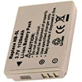 Batterie type CANON NB-5L, 3.7V , 1120mAh , Li-ion