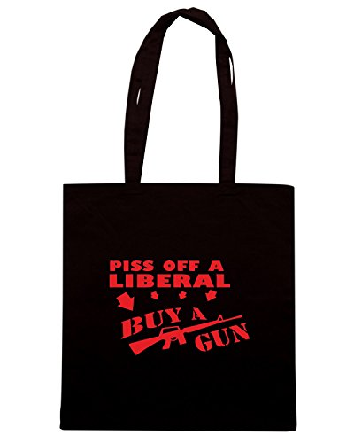 T-Shirtshock - Borsa Shopping FUN0909 buy a gun diecut decal 35028 Nero