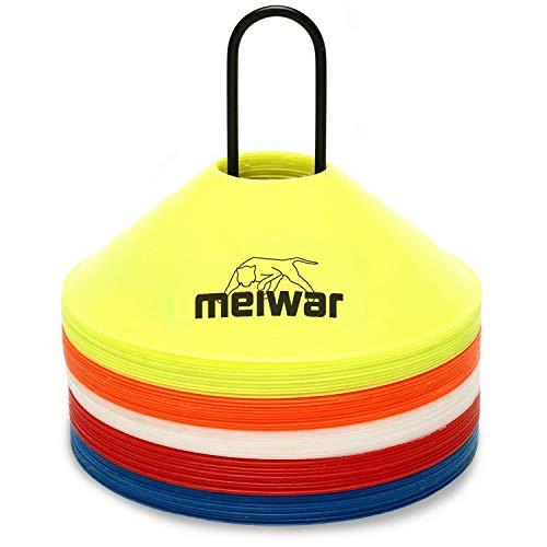 meiwar Markierungshütchen 20er Set mit Halter und Tasche Mehrfarbig -