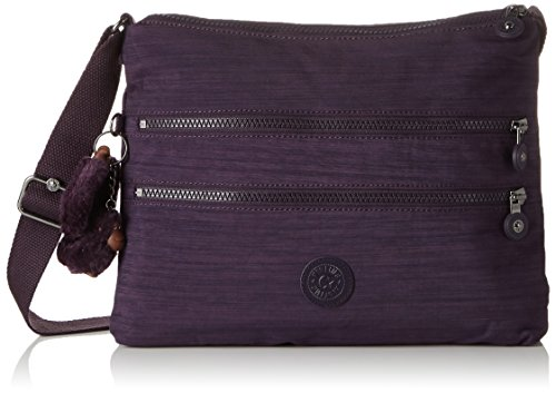 Kipling Alvar, Bolso Bandolera para Mujer, Morado (79W Dazz Purple), 33x26x4.5 cm (B x H x T)
