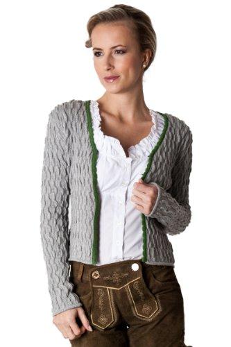 Ludwig und Therese Damen Trachtenjacke Elke grau/grün 1440 32