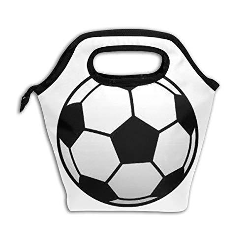 Bidetu Fußball Fußball Sport Lunchpaket Isolierte Lunchbox Wiederverwendbare Lunchpaket Kühler Organizer-Tasche Lunchpakete für Frauen, Männer und Kinder Erwachsene (Lunch-box Molle)