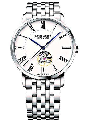 Louis Erard eccellenza orologio automatico, Sop a10bv-2, argento, 62233AA10.BMA35