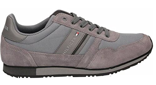 TOMMY HILFIGER Maxwell 3D sneakers TESSUTO PELLE GREY FM56822146 43