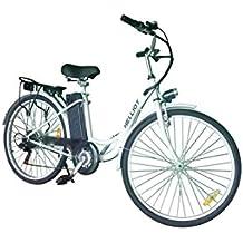 HE-Bikes Helliot Bicicleta de Paseo eléctrica, Unisex Adulto, Blanco, ...