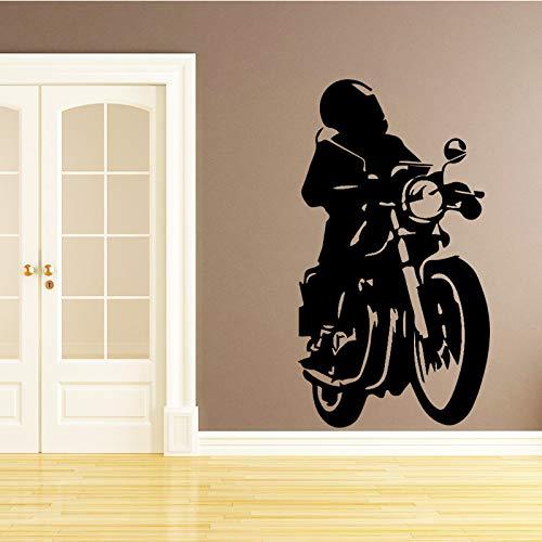zqyjhkou Motorrad Mann Wandaufkleber Europäischen Tapete Dekoration Zubehör Für Abnehmbare Schlafzimmer Selbstklebende Wandkunst PVC M 30 cm X 54 cm