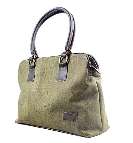 CORK BAG w/ Extra Strap ECO-FRIENDLY by Dux Cork GENUINE PORTUGUESE PREMIUM Cork Fabric 100% QUALITY GRARANTEE
