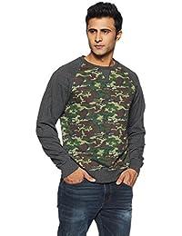 Flying Machine Men's Round Neck Cotton Sweatshirt