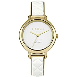 Fiorelli Women's Quartz Watch with White Dial Analogue Display and White Alloy Bracelet FO021WG