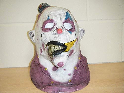 CLOWN JOKER SCHÄDEL DELUXE LATEX HORROR HALLOWEEN KOSTÜM KOPFMASKE (Custom Clown Kostüm)