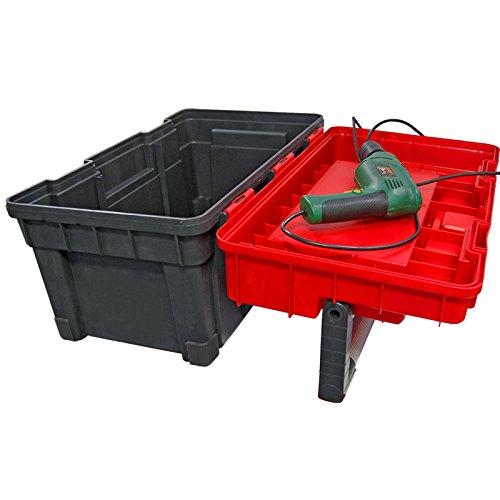 Kunststoff Werkzeugkoffer HD Box Trophy 2 Plus, 80×35,5cm Kasten Werzeugkiste Sortimentskasten Werkzeugkasten Anglerkoffer - 8