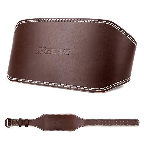 XGEAR Cinturón Musculación Cuero Cinturones Levantamiento