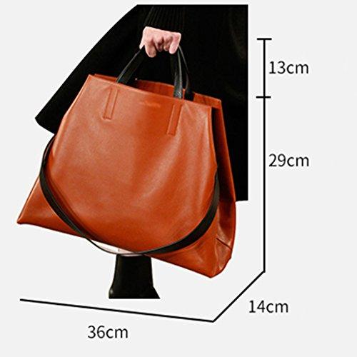Zcjb Borse Donna Moda Borsa A Tracolla A Tracolla Alta Capacità (colore: Vino Rosso) Arancione