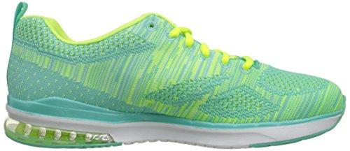 Skechers Air Infinity Wlidcard, Fitness femme Aqua Lime