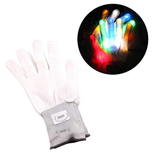 hing Handschuhe - Lightshow Tanzhandschuhe - Leuchten Halloween Tanz Rave Party Fun, Party Oder Hip-Pop-Tanz ()
