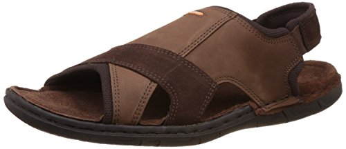 Red Chief Men's Dark Blue Leather Sandal - 8 UK/India (42 EU)(RC783)  available at amazon for Rs.1796