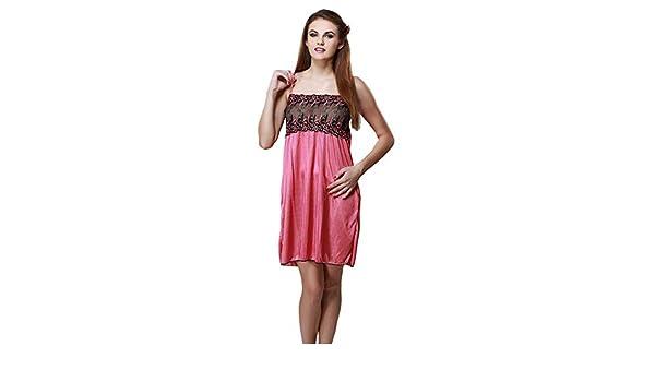 Miss Pixy Women s Solid Maroon Nighty Satin Casual Sleepwear  Amazon.co.uk   Clothing 96c1bcc90
