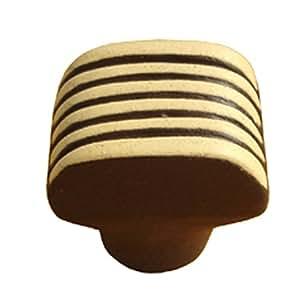 Sofoc 8773579 Delice Bouton de Porte et Tiroir de Meuble en Céramique/Résine Chocolat/Ivoire 2,8 x 2,7 x 2,4 cm