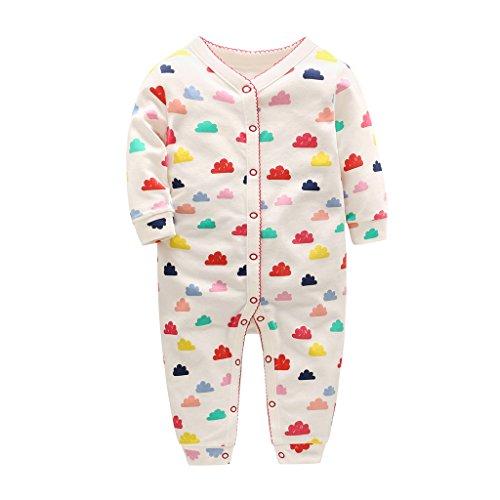 Baby Junge Mädchen Strampler Langarm Baumwolle Overalls Strampelanzug Schlafanzug Pyjama 12-18 Monate
