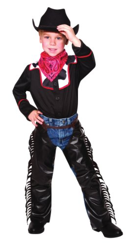 ild West Cowboy Outlaw Halloween Fancy Dress Party Costume (Outlaw Cowboy Kostüm)