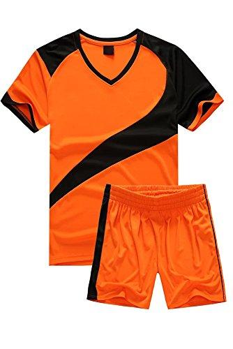 4f542a049748a BOZEVON Hombres Niño Trajes de Fútbol Ropa Deportiva Conjunto de Camiseta y.