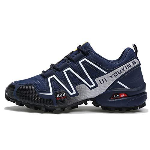 Off-road-laufschuhe (Yujingc Outdoor-Sportschuhe für Männer zum Bergsteigen Wandern Klettern Trekking Laufschuhe Schnürschuhe Off-Road-Sport-Mesh-Schuhe,Blue,48)