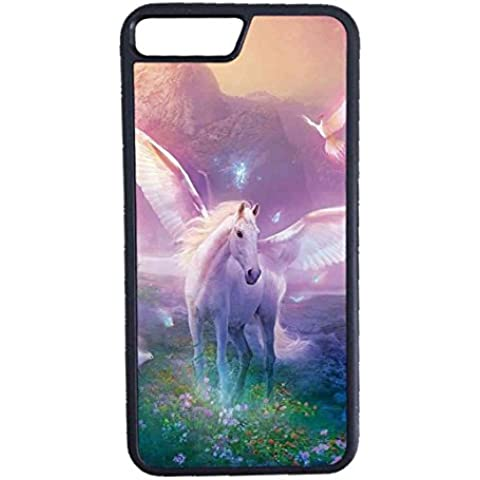 Cover Apple iPhone 7 Custodia Cover Unicorn Horse Cartoon - Alluminio Horse Head