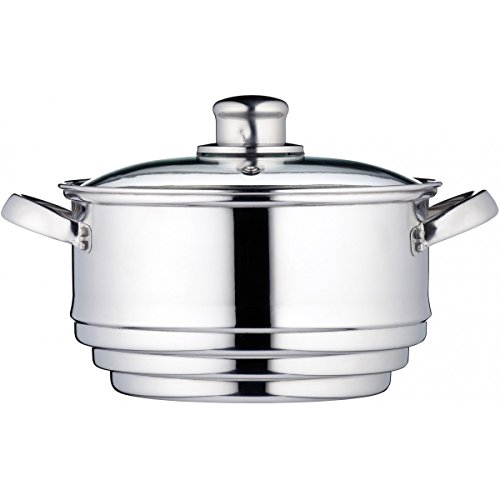 Kitchen Craft Clearview - Olla universal para cocinar al vapor, acero